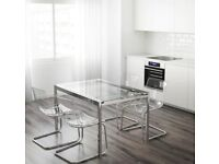 Ikea glass office meeting conference boardroom table