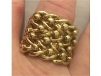 46 GRAM 9crt GOLD KEEPER RING