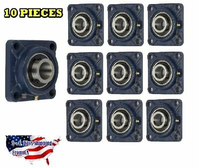 Ucf205-16 Pillow Block Flange Bearing 1 Bore 4 Bolt Solid Base 10pcs