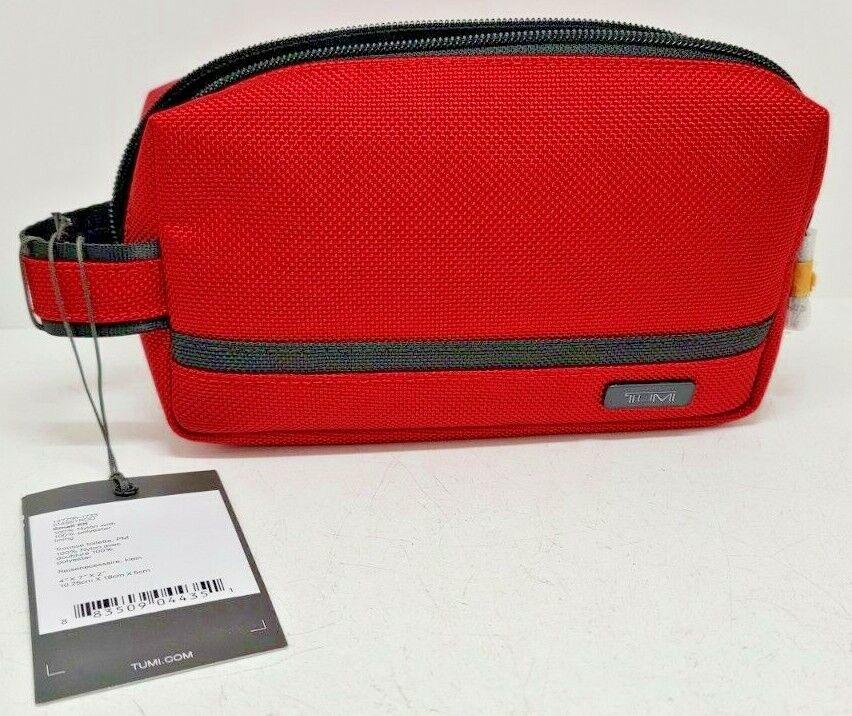 Tumi Small Kit Travel Bag-Red NWT 4 x7 x2  - $30.00