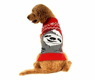 Alex Stevens Slothy Christmas Mock Turtleneck Sweater for Dogs XL