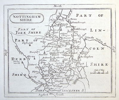 NOTTINGHAMSHIRE John Seller orig. antique map. c.1780
