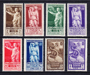 ITALIAN EAST AFRICA 1938 - SC# 21 - 26 + C12 - C13 MINT HINGED