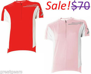 2XU-Elite-Women-Large-Road-Mountain-Bike-Cycling-Short-Sleeve-Red-Pink-Jersey