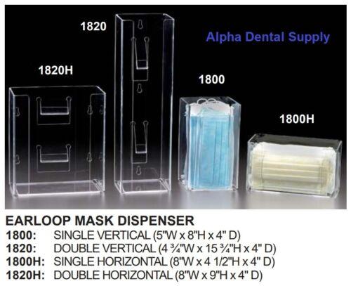 Plasdent Dental Medical Clear Acrylic Erloopmask Dispenser Wall Mount