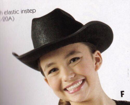 NEW/box 2 DOZEN Dance COSTUME Black Felt Cowboy Hats Med or Lge Size adult