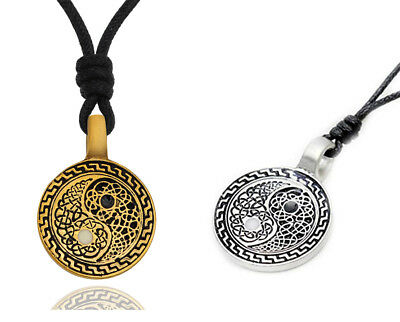 Yin Yang Feng Shui (Yin Yang Feng Shui Ying Silver Pewter Gold Brass Charm Necklace Pendant)