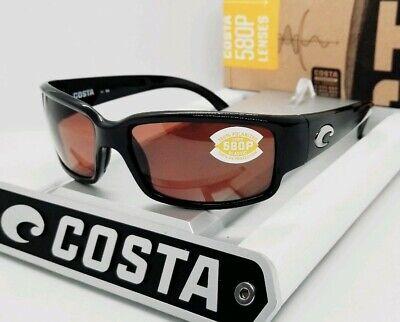 COSTA DEL MAR black/copper CABALLITO POLARIZED 580P sunglasses! NEW IN (Caballito Del Mar)