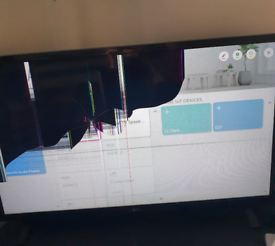 "LG 32"" Uhd 4k smart TV. Broken screen"