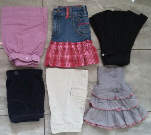 Girls size 4 skirts and shorts