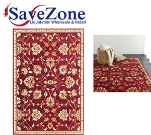 "NEW- Bordeaux Patterned Rectangle Area Rug 5'3"" x 7'5"""