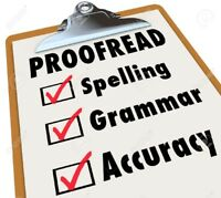 Professional Editing and Proof Reading Services