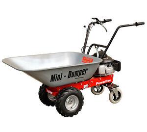 Powerpac mcm100 motorised wheelbarrow micro dumper for Motorized wheelbarrows for sale