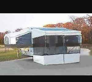 Add a room for 8 foot bag awning