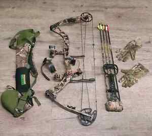 Quest G5 Compound Bow with Case, arrows and String Guard