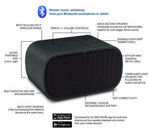 Logitech UE Mini-Boom Bluetooth Speaker - UE Mobile Boombox