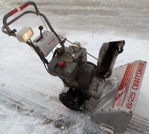 CRAFTSMAN 8 HP 25 INCH SNOWBLOWER