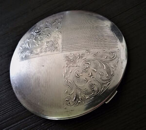 Sterling Silver Compact - 99g!