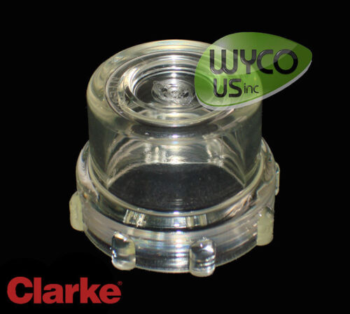 SOLUTION FILTER CLEAR BOWL, CLARKE CA30 20B WALK BEHIND SCRUBBER, VF90603, 10B3
