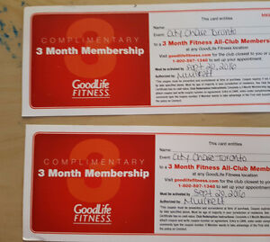 GoodLife Fitness All-Club Membership - 3 Month