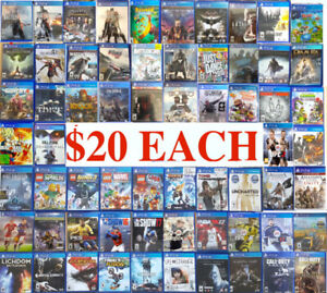 Playstation 4 Games •   ( $20 EACH — 4 x $70 )    • PickUpOnly