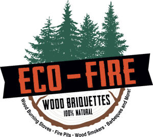 ECO-FIRE BRIQUETTES - A 100% NATUAL FIREWOOD ALTERNATIVE