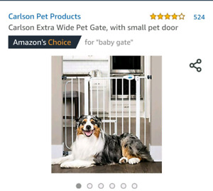 New Carlson Pet Gate With Small Pet Door