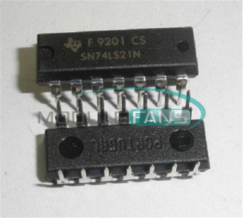 10Pcs HD74LS21P 74LS21 SN74LS21N Dual 4 Inputs And Gate gs