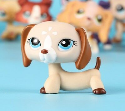 Rare LPS Toys Littlest Pet Shop White Dachshund Puppy Dog No Magnet Figure Gifts