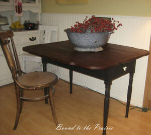 Primitive,Antique Drop Leaf TABLE!~REClaimed & REStyled!~