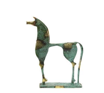 Statue Horse Greek Bronze on Marble Base Greece Antique Bdk183