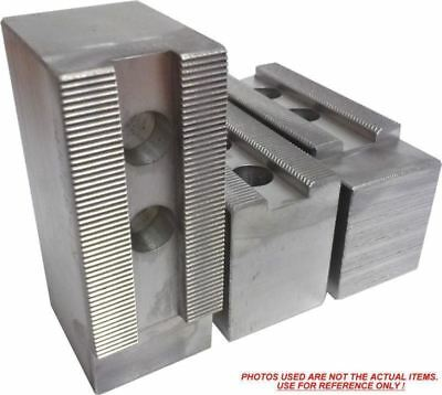 """TG-8300AF ALUMINUM SOFT JAWS FOR TONGUE /& GROOVE 8/"""" CHUCK 3/"""" HT 3 PC SET"""