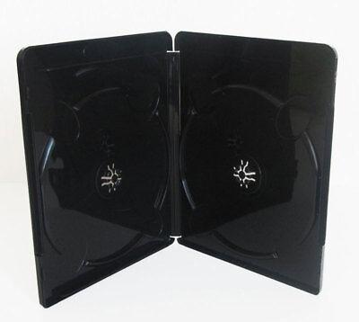 BLU RAY HÜLLE 11 mm Schwarz für 2 Bluray,DVD Disc 10 Leerhüllen
