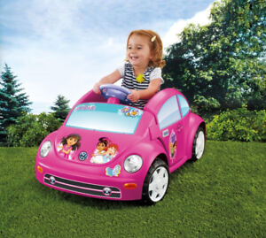 Power Wheels 6v Dora Volkswagen New Beetle (DNK01) - Pink​