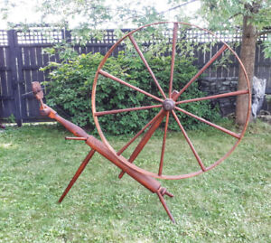Antique SW Ontario (Brantford-style) Turned-Bed Spinning Wheel