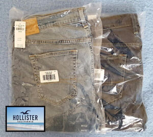 Brand New Hollister Jeans 34x32 Straight Leg, Relaxed Fit