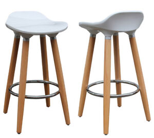 Set of 2 White Inspire 26'' Bar Stools from Wayfair