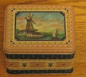 Collector's Tin with Windmill and Boat on Top