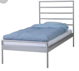 Ikea single bed frame with mattress. Good condition. Delivery availa