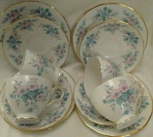 English Tea Set, Teapot, Cream, Sugar, 6 Cups & Saucers + More