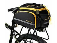 Coolchange Combination Bicycle Pannier Bag with Rain Cover and Helmet Cover