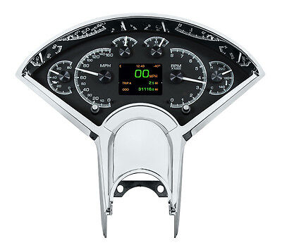 Dakota Digital 55-56 Chevy Car Customizable Gauge Kit Black Alloy HDX-55C-K