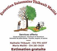 Entretien Saisonnier Thibault Maillé