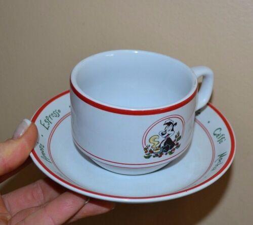 1994 Warner Bros Pepe Le Pew Cappuccino Coffee Latte tea set 6 cups mugs saucers