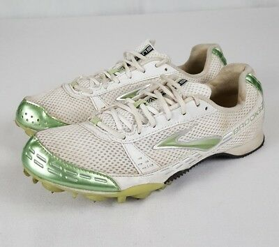033215a8d1112 Brooks Surge Women s Track and Field Cleats Size 9 White Green Cross Country