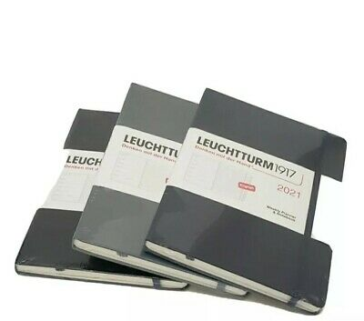 Leuchtturm1917 Weekly Planner Medium A5 2021 With Extra Booklet Black Anthrac