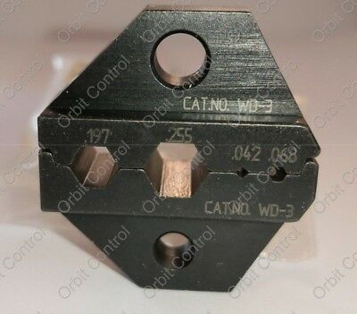 Adc Wd-3 Bnc Coaxial Crimp Die Set For .197 .255 .068 Connector Crimp Sleeve