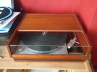 Thorens TD 150 turntable - timber case and cover