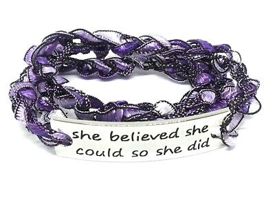 Inspirational Word Connector Crocheted Wrap Bracelet