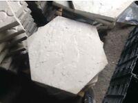 450x450x38mm hexagon shaped concrete Paving slabs ⭐️ new ⭐️